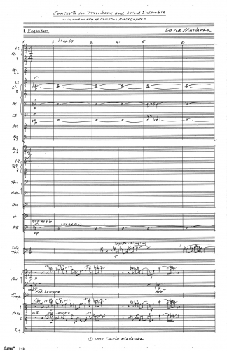 Concerto for Trombone and Wind Ensemble 00 Score 5